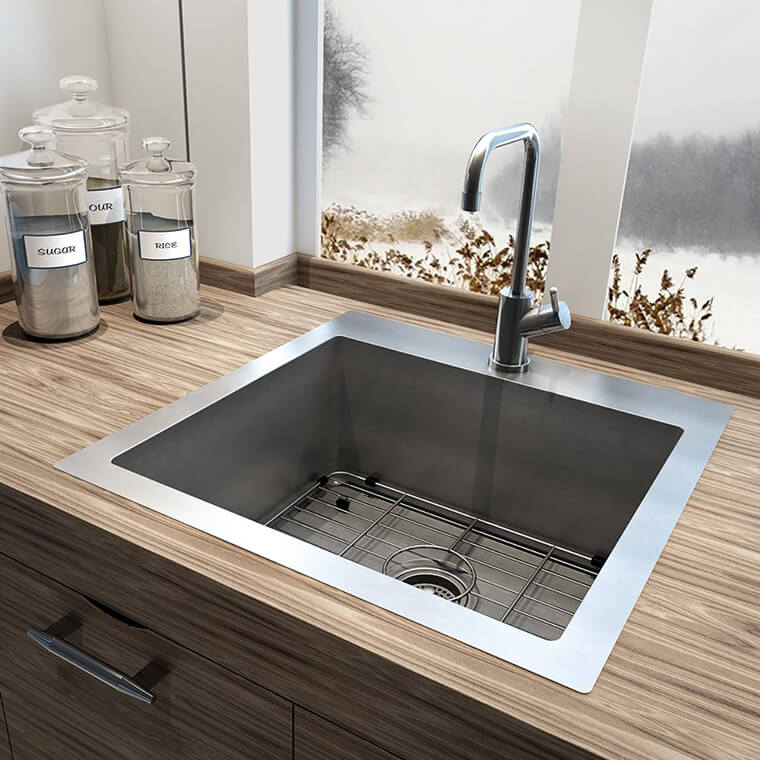 Stainless Steel Kitchen Sink #1b