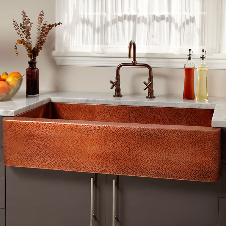 Copper Kitchen Sink #1