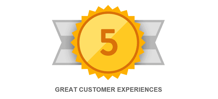 Borchert Kitchen & Bath awarded the Guild Quality 5 Great Customer Reviews in a Row Award